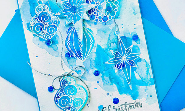 Ornate Ornaments in Blue