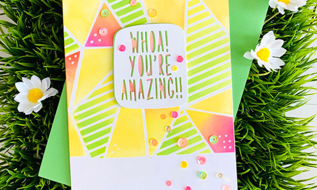 Believe in You – Faceted Stripes Stencil
