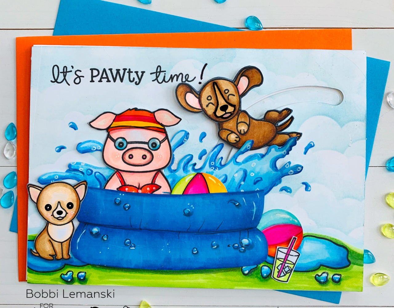 It's PAWty time at Pinky's Pool!