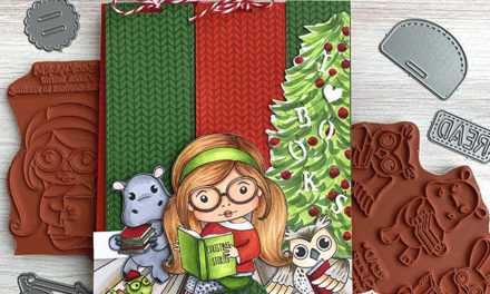 A Holiday Card with Bookmarks Included!