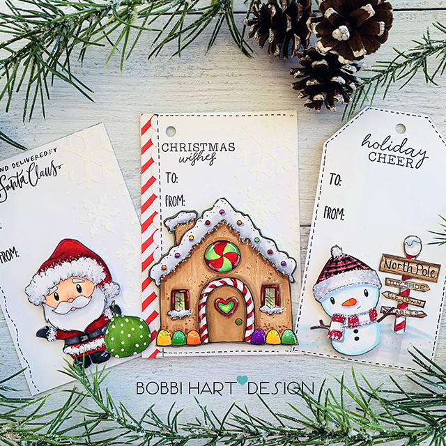 Traditional Holiday Tags Using Paper Nest Dolls