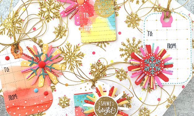 Bright and Merry Tags using Reverse Confetti