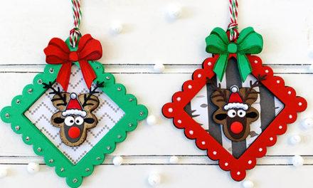 Reindeer Tags Using Gingerbread Men