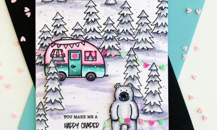Jane's Doodles Winter Scene Card Challenge