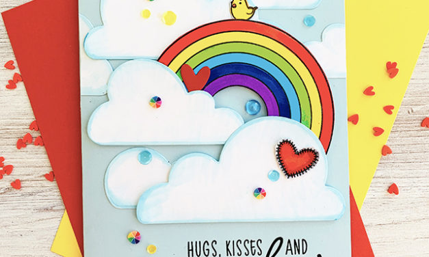 Sneak Peek Day 1: Rainbow and Large Cloud Card