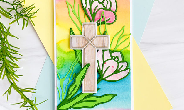 Inlaid Cross and Crocus for Easter