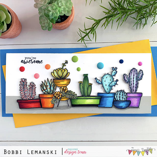 Reminder: Jane's Doodles Card Challenge 4/14