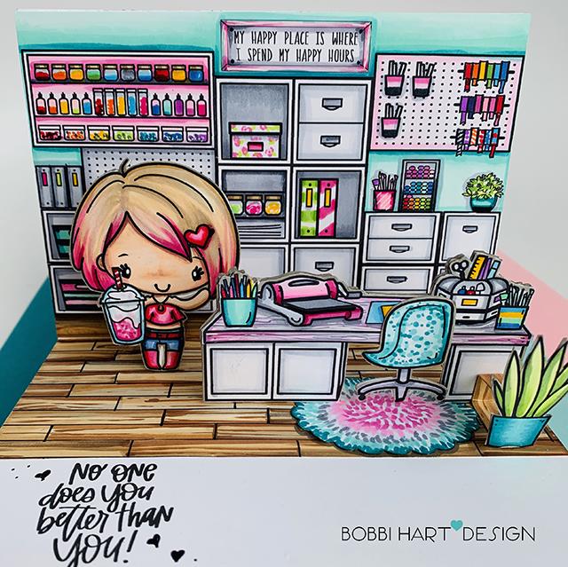 Stylish Craft Studio Pop-up Card