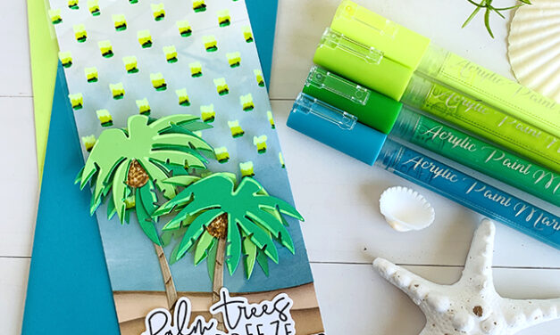 Painting Palm Trees with Chalkola Acrylic Paint Markers
