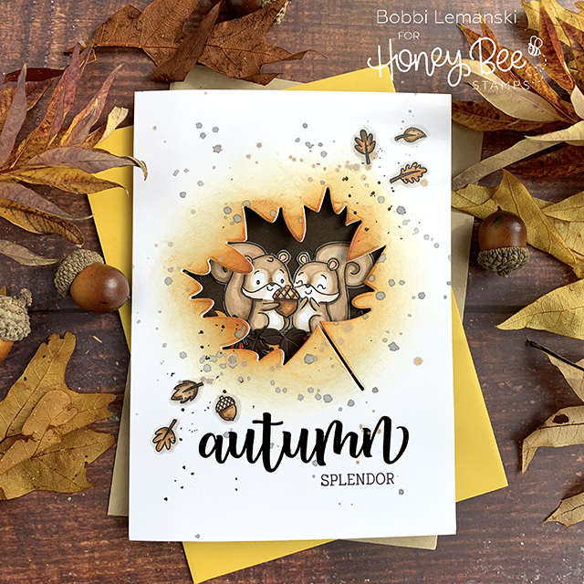 Lovely Layers of Leaves: Tri-fold, Multi Window Card