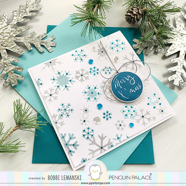 Merry Snowflakes at Penguin Palace Stamps