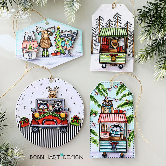 Holiday Tags with Jane's Doodles