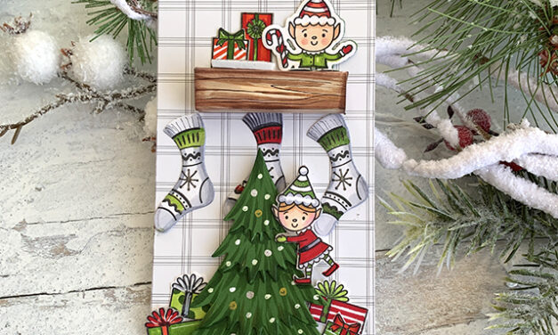Elf on the Shelf Tag Honey Bee Stamps Style!