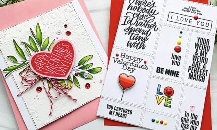 "Valentine Greetings that say ""Love You"" by Simon Says Stamp"