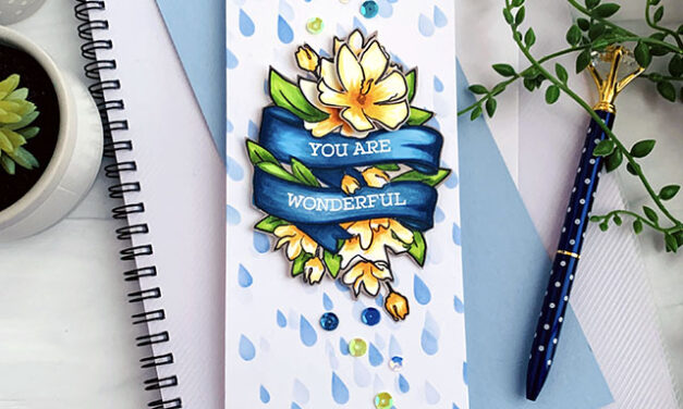 Love You, Too Release – Wonderful Banner Slimline Card