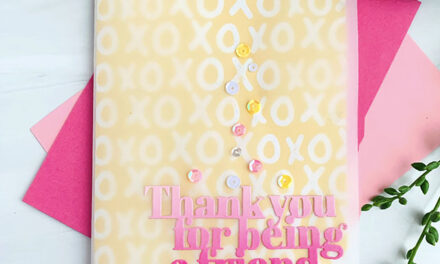 Love You, Too Release – Thank You for Being a Friend Card