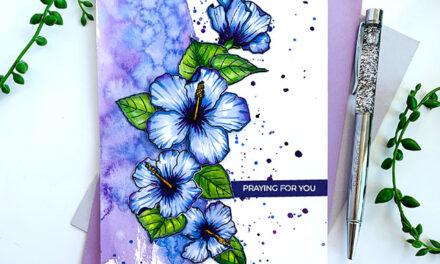 Blue Ombre Hibiscus