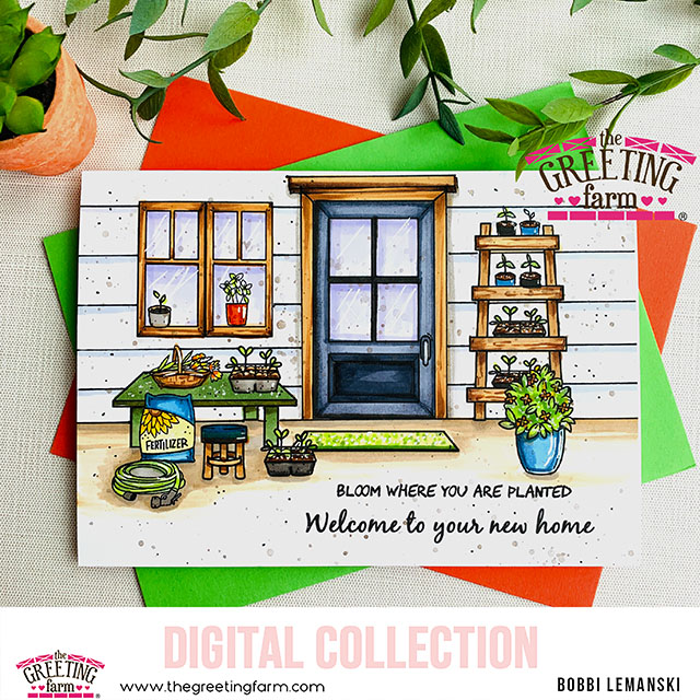 Bloom Where You are Planted – The Greeting Farm Digis