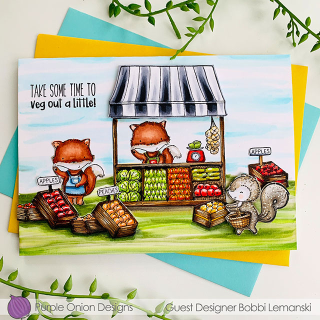 Veg Out A Little by Purple Onion Designs