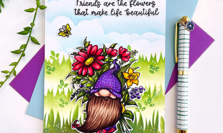 Friends are Flowers Gnome by Trinity Stamps