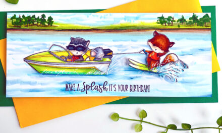 Summer Skiing with Purple Onion Designs