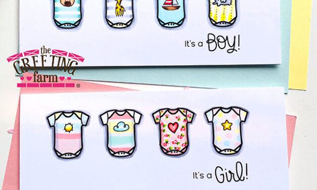 Onesie, Twosie – New Baby Cards!