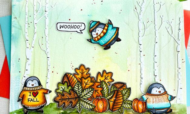 Penguins in the Fall Season
