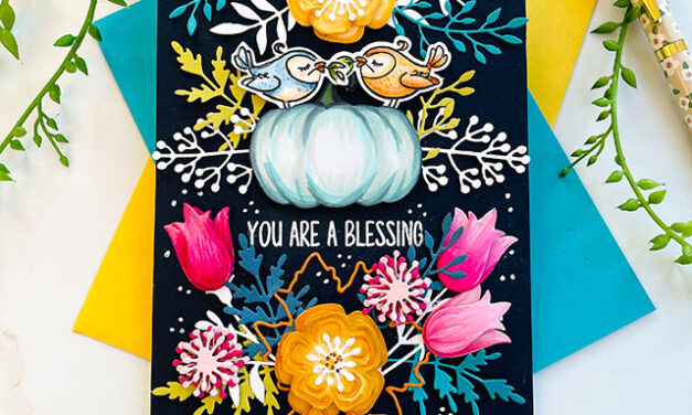 Vibrant Blessings With Mirror Image Stamping